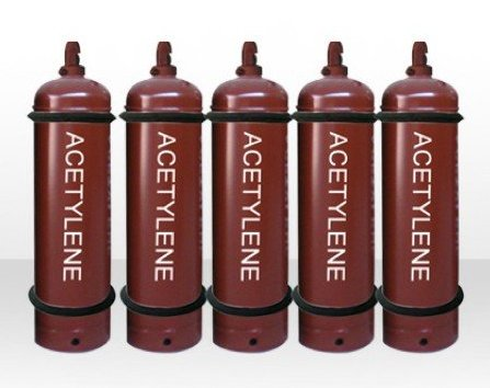 Welded and seamless steel dissolved acetylene gas cylinders